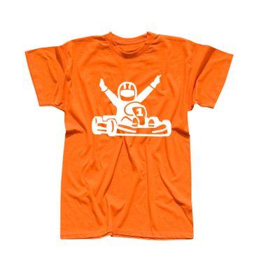 T-Shirt Kartfahrer Siegerpose Gokart Karting Rennsport 13 Farben Herren XS-5XL – Bild 14