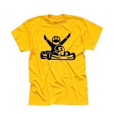 T-Shirt Kartfahrer Siegerpose Gokart Karting Rennsport 13 Farben Herren XS-5XL – Bild 15