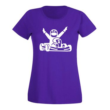 T-Shirt Kartfahrer Siegerpose Gokart Karting Rennsport 15 Farben Damen XS - 3XL – Bild 14