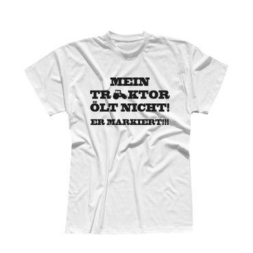 T-Shirt Mein Traktor ölt nicht er markiert Karneval Bauer 13 Farben Men XS - 5XL – Bild 4