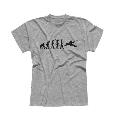 T-Shirt Evolution Kajak Kanadier Wassersport Kanu Club 13 Farben Herren XS - 5XL – Bild 7
