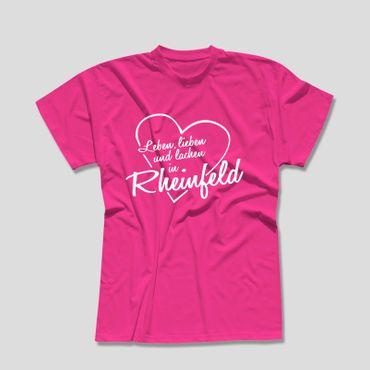Rheinfeld T-Shirt Herren Leben lieben lachen Geschenk Dormagen 10 Farben XS-5XL – Bild 5