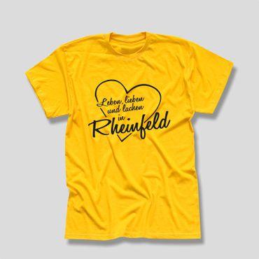 Rheinfeld T-Shirt Herren Leben lieben lachen Geschenk Dormagen 10 Farben XS-5XL – Bild 12