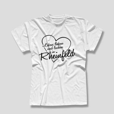 Rheinfeld T-Shirt Herren Leben lieben lachen Geschenk Dormagen 10 Farben XS-5XL – Bild 4