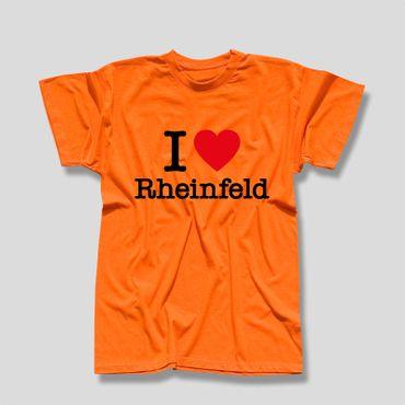Rheinfeld T-Shirt Herren I love (Herz) Präsent Dormagen Geschenk 8 Farben XS-5XL – Bild 9
