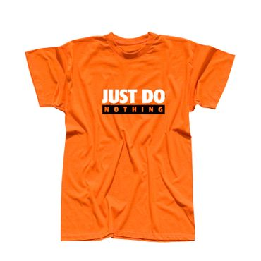T-Shirt Just Do Nothing faul Athletics Sport Fun-Shirt 13 Farben Herren XS - 5XL – Bild 14