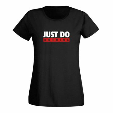 T-Shirt Just Do Nothing faul Athletics Sport Fun-Shirt 15 Farben Damen XS - 3XL – Bild 1
