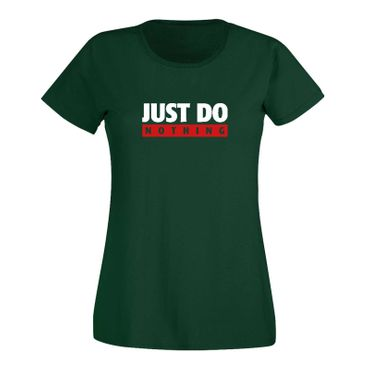 T-Shirt Just Do Nothing faul Athletics Sport Fun-Shirt 15 Farben Damen XS - 3XL – Bild 8