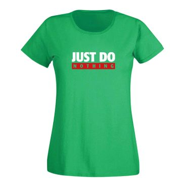 T-Shirt Just Do Nothing faul Athletics Sport Fun-Shirt 15 Farben Damen XS - 3XL – Bild 9