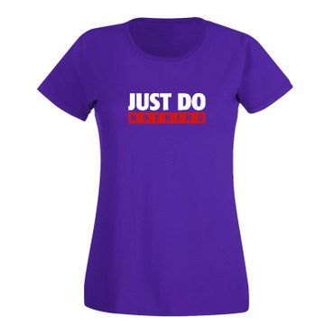 T-Shirt Just Do Nothing faul Athletics Sport Fun-Shirt 15 Farben Damen XS - 3XL – Bild 14