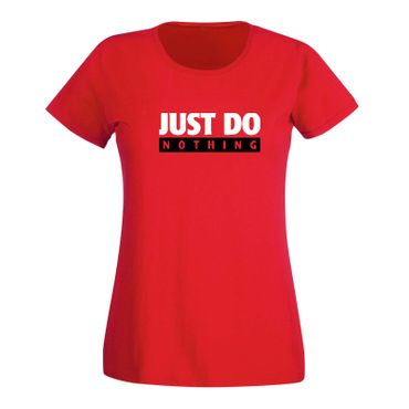T-Shirt Just Do Nothing faul Athletics Sport Fun-Shirt 15 Farben Damen XS - 3XL – Bild 15