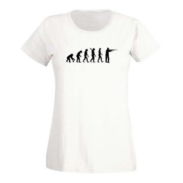 T-Shirt Evolution Jäger Sportschütze Jagd Schützenverein 15 Farben Damen XS-3XL – Bild 4