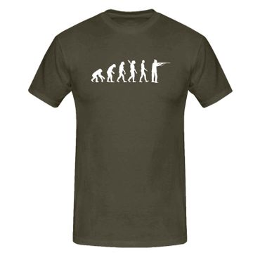 T-Shirt Evolution Jäger Sportschütze Jagd Schützenverein 13 Farben Herren XS-5XL – Bild 9