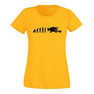 T-Shirt Evolution Mähdrescher Erntemaschine Pickup Case 15 Farben Damen XS - 3XL – Bild 17