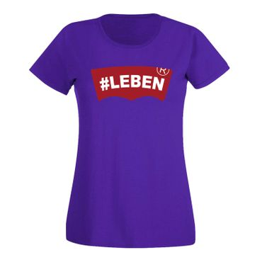 T-Shirt #LEBEN Jeans Logo Lookalike Parodie Fun-Shirt 15 Farben Damen XS - 3XL – Bild 14
