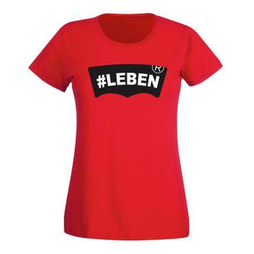 T-Shirt #LEBEN Jeans Logo Lookalike Parodie Fun-Shirt 15 Farben Damen XS - 3XL – Bild 15