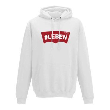 Hoodie #LEBEN Jeans Logo Lookalike Parodie Fun-Shirt 10 Farben Herren XS - 5XL – Bild 4