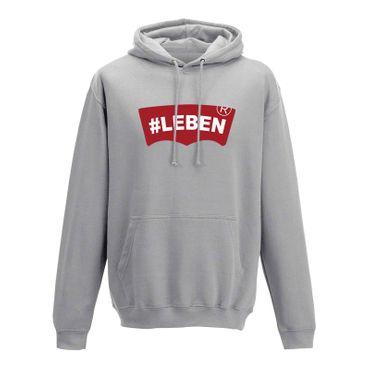 Hoodie #LEBEN Jeans Logo Lookalike Parodie Fun-Shirt 10 Farben Herren XS - 5XL – Bild 5
