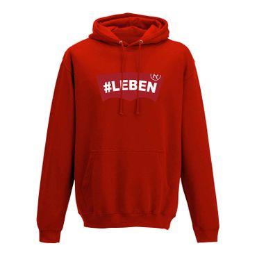 Hoodie #LEBEN Jeans Logo Lookalike Parodie Fun-Shirt 10 Farben Herren XS - 5XL – Bild 10