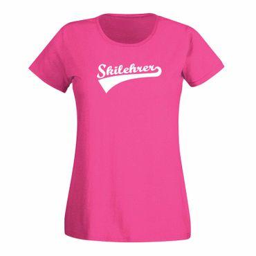 T-Shirt Skilehrer Skiurlaub Wintersport Après-Ski Alpin 15 Farben Damen XS - 3XL