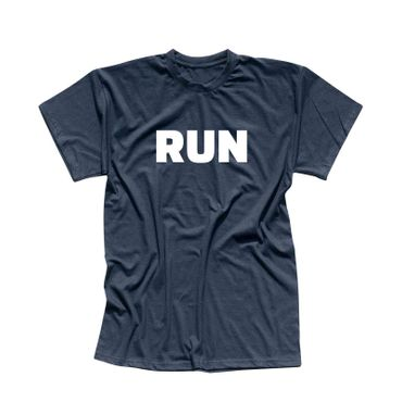 T-Shirt RUN Laufen Joggen Marathon Sport Fitness Staffel 13 Farben Herren XS-5XL – Bild 11