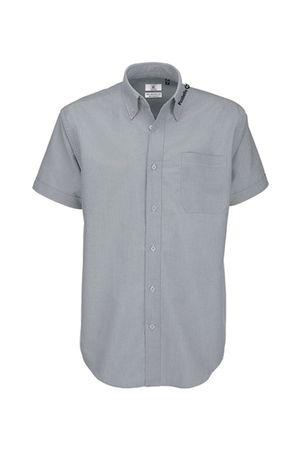 "Herren Oxford Hemd ""Picobello"" kurzarm grau / silver-moon – Bild 1"