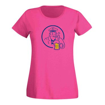 T-Shirt Bier Kapitän Captain Beer Party feiern Malle Fun 15 Farben Damen XS-3XL – Bild 5