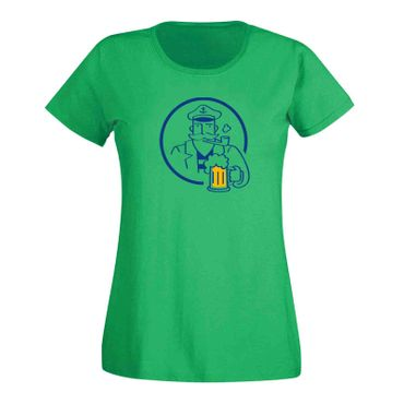 T-Shirt Bier Kapitän Captain Beer Party feiern Malle Fun 15 Farben Damen XS-3XL – Bild 9
