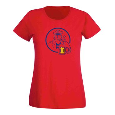 T-Shirt Bier Kapitän Captain Beer Party feiern Malle Fun 15 Farben Damen XS-3XL – Bild 15