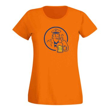 T-Shirt Bier Kapitän Captain Beer Party feiern Malle Fun 15 Farben Damen XS-3XL – Bild 16