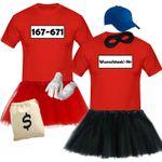 T-Shirt Panzerknacker Deluxe+ Kostüm-Set + Tütü Karneval Fasching Herren XS-5XL 001