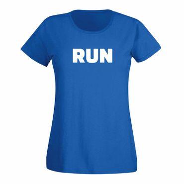 T-Shirt RUN Laufen Joggen Marathon Sport Fitness Staffel 15 Farben Damen XS-3XL – Bild 11
