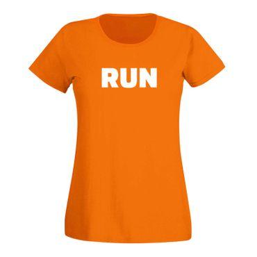 T-Shirt RUN Laufen Joggen Marathon Sport Fitness Staffel 15 Farben Damen XS-3XL – Bild 16