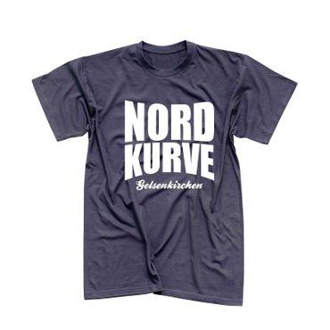 T-Shirt Nordkurve Gelsenkirchen oval Stadion Liga Ultras 13 Farben Herren XS-5XL – Bild 6