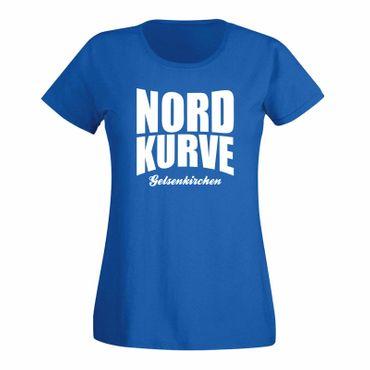 T-Shirt Nordkurve Gelsenkirchen oval Stadion Liga Ultras 15 Farben Damen XS-3XL – Bild 1