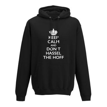 Hoodie Krone + Keep Calm don't Hassel the Hoff Baywatch 10 Farben Herren XS-5XL – Bild 1