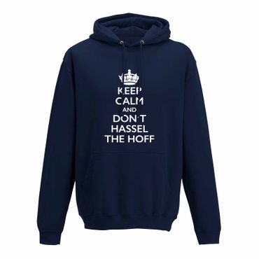 Hoodie Krone + Keep Calm don't Hassel the Hoff Baywatch 10 Farben Herren XS-5XL – Bild 7