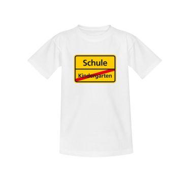 T-Shirt Schild Kindergarten/Schule Einschulung 1. Klasse 10 Farben Kinder 98-164 – Bild 4