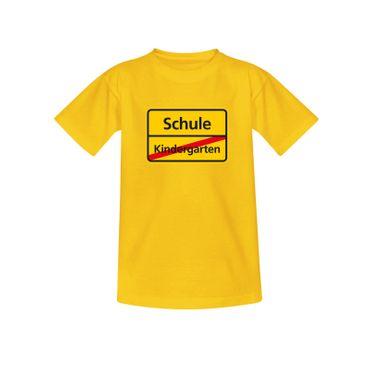 T-Shirt Schild Kindergarten/Schule Einschulung 1. Klasse 10 Farben Kinder 98-164 – Bild 12