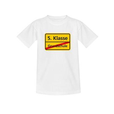 T-Shirt Schild Grundschule/5. Klasse Schulanfang Geschenk 10 Farb. Kinder 98-164 – Bild 4