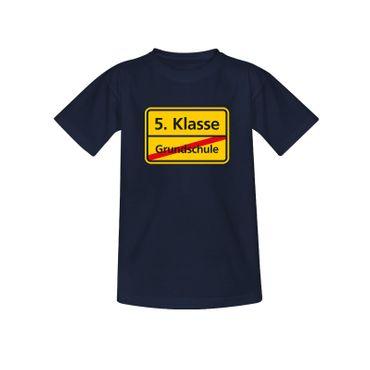 T-Shirt Schild Grundschule/5. Klasse Schulanfang Geschenk 10 Farb. Kinder 98-164 – Bild 8