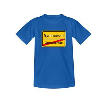 T-Shirt Schild Grundschule/Gymnasium Schulanfang Geschenk 10 Farb. Kinder 98-164 – Bild 1