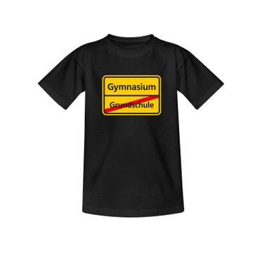 T-Shirt Schild Grundschule/Gymnasium Schulanfang Geschenk 10 Farb. Kinder 98-164 – Bild 3