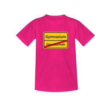 T-Shirt Schild Grundschule/Gymnasium Schulanfang Geschenk 10 Farb. Kinder 98-164 – Bild 5