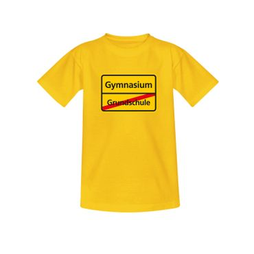 T-Shirt Schild Grundschule/Gymnasium Schulanfang Geschenk 10 Farb. Kinder 98-164 – Bild 12