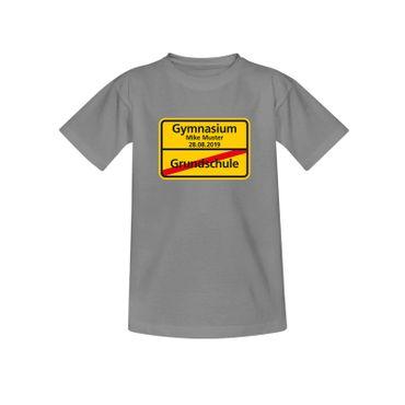 T-Shirt Grundschule/Gymnasium + Wunschname Schulanfang 10 Farben Kinder 98 - 164 – Bild 6
