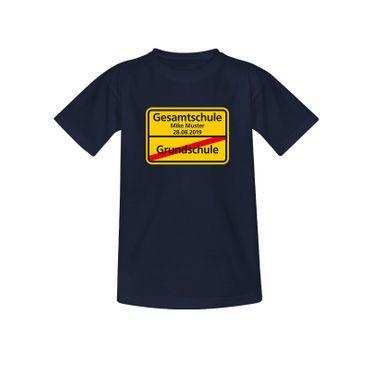 T-Shirt Grundschule/Gesamtschule Wunschname Schulanfang 10 Farben Kinder 98-164 – Bild 8