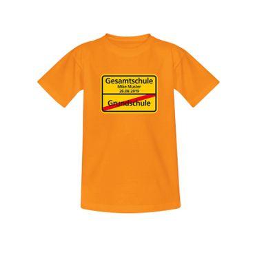 T-Shirt Grundschule/Gesamtschule Wunschname Schulanfang 10 Farben Kinder 98-164 – Bild 11