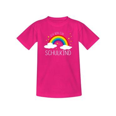 T-Shirt Schulkind 2019 Regenbogen Einschulung 1. Klasse 10 Farben Kinder 98-164 – Bild 5