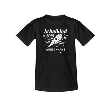 T-Shirt Schulkind 2019 Wunschname Einschulung 1. Klasse 10 Farben Kinder 98-164 – Bild 3